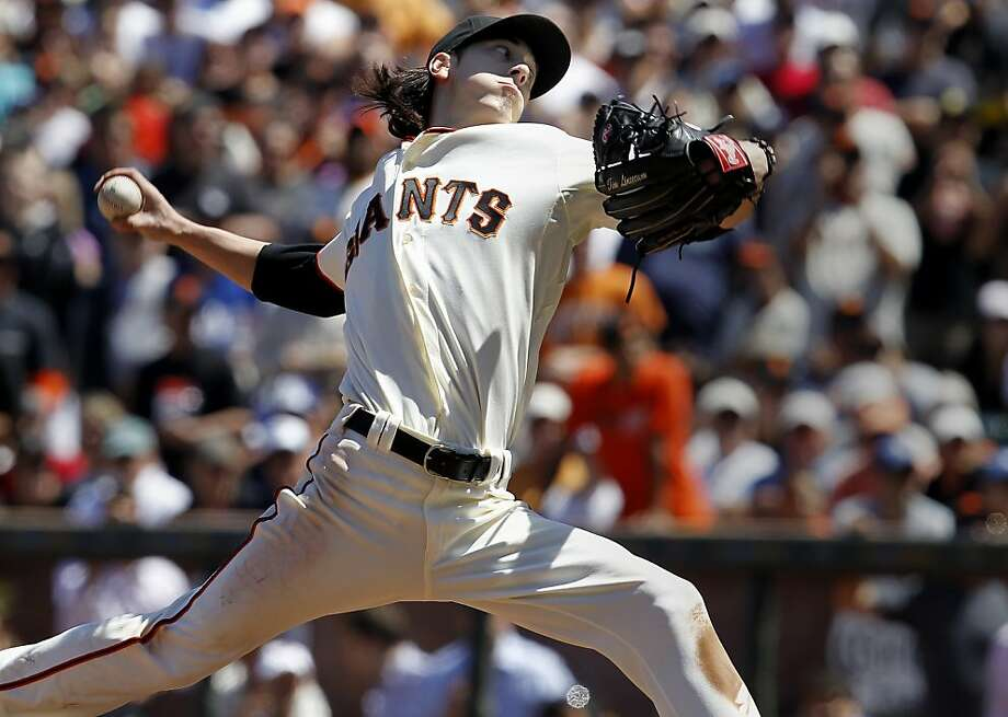 Tim Lincecum faced his last batter of the game. The San Francisco Giants vs. the Los Angeles Dodgers in the last of a three game series Wednesday June 27, 2012 at AT&T park. Photo: Brant Ward, The Chronicle