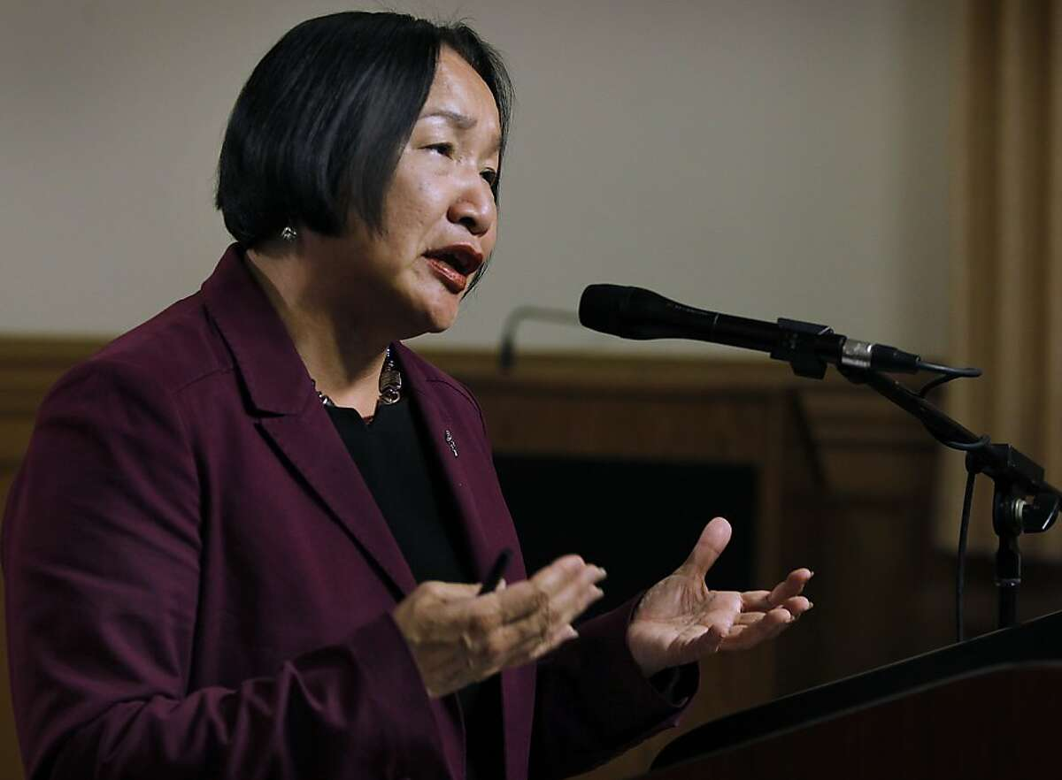Oakland Mayor Jean Quan admits erroneous statistical data was used to implement her controversial 100 Blocks anti-crime plan but defended the program at a City Hall news conference in Oakland, Calif. on Wednesday, June 27, 2012.