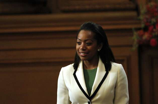 Supervisor Malia Cohen during the Board of Supervisors meeting in San Francisco, Calif., Tuesday, June 19, 2012. Photo: Sarah Rice, Special To The Chronicle