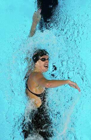 Allison Schmitt swims in the women's 200-meter freestyle preliminaries at the U.S. Olympic swimming trials, Wednesday, June 27, 2012, in Omaha, Neb. (AP Photo/Nati Harnik) Photo: Associated Press