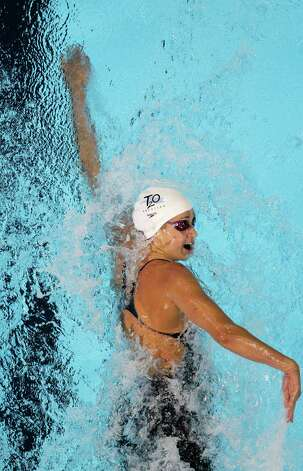 Katie Hoff swims in the women's 200-meter freestyle preliminaries at the U.S. Olympic swimming trials, Wednesday, June 27, 2012, in Omaha, Neb. (AP Photo/Nati Harnik) Photo: Associated Press