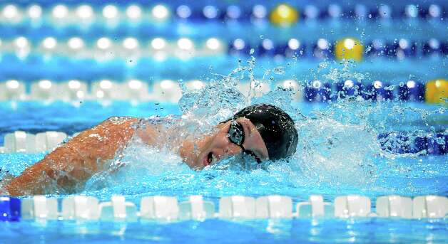 Allison Schmitt swims in the women's 200-meter freestyle preliminaries at the U.S. Olympic swimming trials, Wednesday, June 27, 2012, in Omaha, Neb. (AP Photo/Mark J. Terrill) Photo: Associated Press