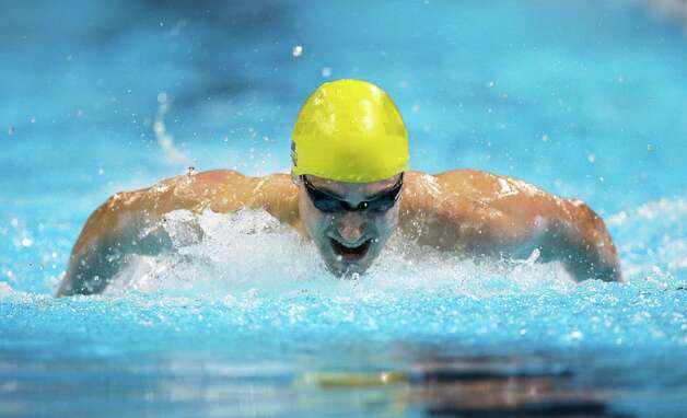 Dan Madwed swims in the men's 200-meter butterfly preliminaries at the U.S. Olympic swimming trials on Wednesday, June 27, 2012, in Omaha, Neb. (AP Photo/Mark Humphrey) Photo: Associated Press