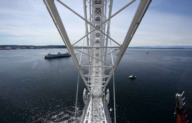 Puget Sound is seen from the new Seattle Great Wheel. (JOSHUA TRUJILLO / SEATTLEPI.COM)