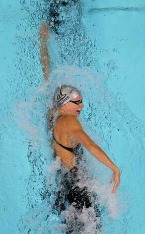 Dana Vollmer swims in the women's 200-meter freestyle preliminaries at the U.S. Olympic swimming trials, Wednesday, June 27, 2012, in Omaha, Neb. (AP Photo/Nati Harnik) Photo: Nati Harnik, Associated Press
