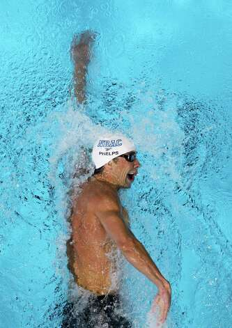 Michael Phelps swims in the men's 200-meter freestyle final at the U.S. Olympic swimming trials, Wednesday, June 27, 2012, in Omaha, Neb. (AP Photo/Nati Harnik) Photo: Associated Press