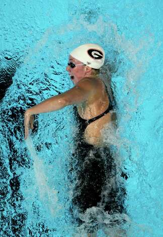Shannon Vreeland swims in a women's 200-meter freestyle semifinal at the U.S. Olympic swimming trials, Wednesday, June 27, 2012, in Omaha, Neb. (AP Photo/Nati Harnik) Photo: Associated Press