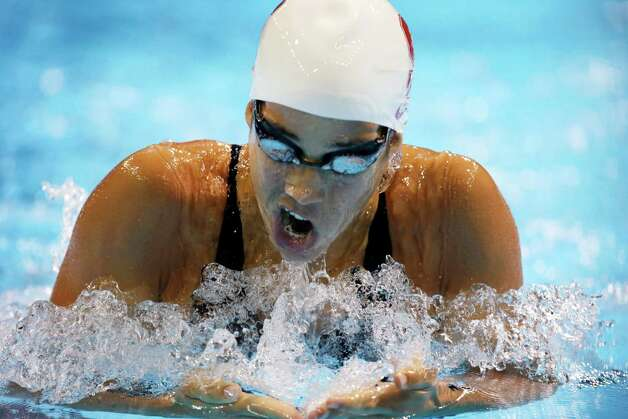 Maya Dirado swims in the women's 200-meter individual medley preliminaries at the U.S. Olympic swimming trials on Wednesday, June 27, 2012, in Omaha, Neb. (AP Photo/Mark Humphrey) Photo: Associated Press