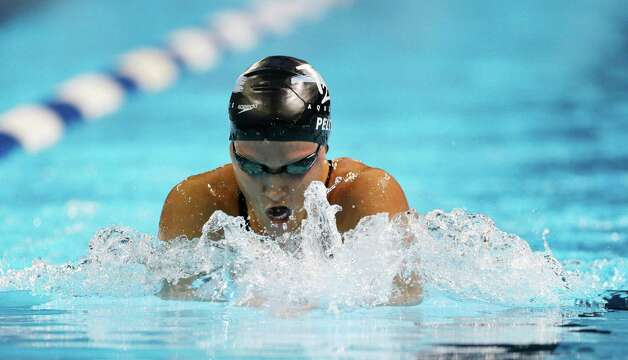 Elizabeth Pelton swims in a women's 200-meter individual medley semifinal at the U.S. Olympic swimming trials on Wednesday, June 27, 2012, in Omaha, Neb. (AP Photo/Mark Humphrey) Photo: Associated Press