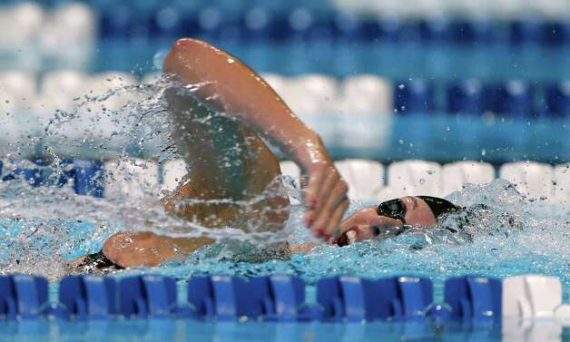 Allison Schmitt swims in a women's 200-meter freestyle semifinal at the U.S. Olympic swimming trials on Wednesday, June 27, 2012, in Omaha, Neb. (AP Photo/Mark Humphrey) Photo: Associated Press