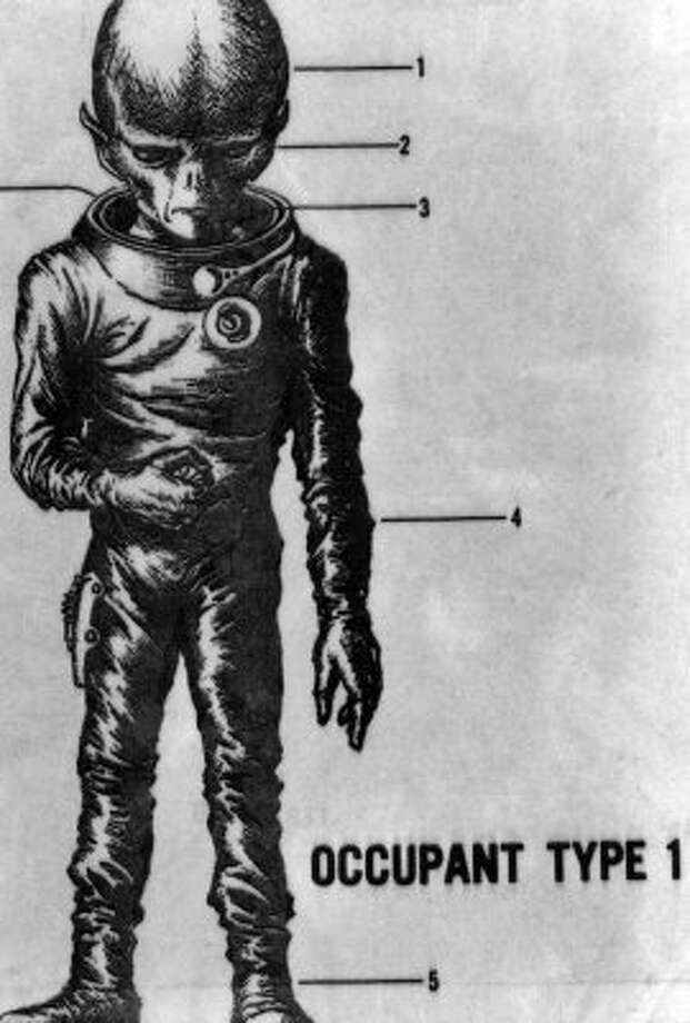 A 1970 image from the Associated Press of what an alien might look like. (seattlepi.com file)