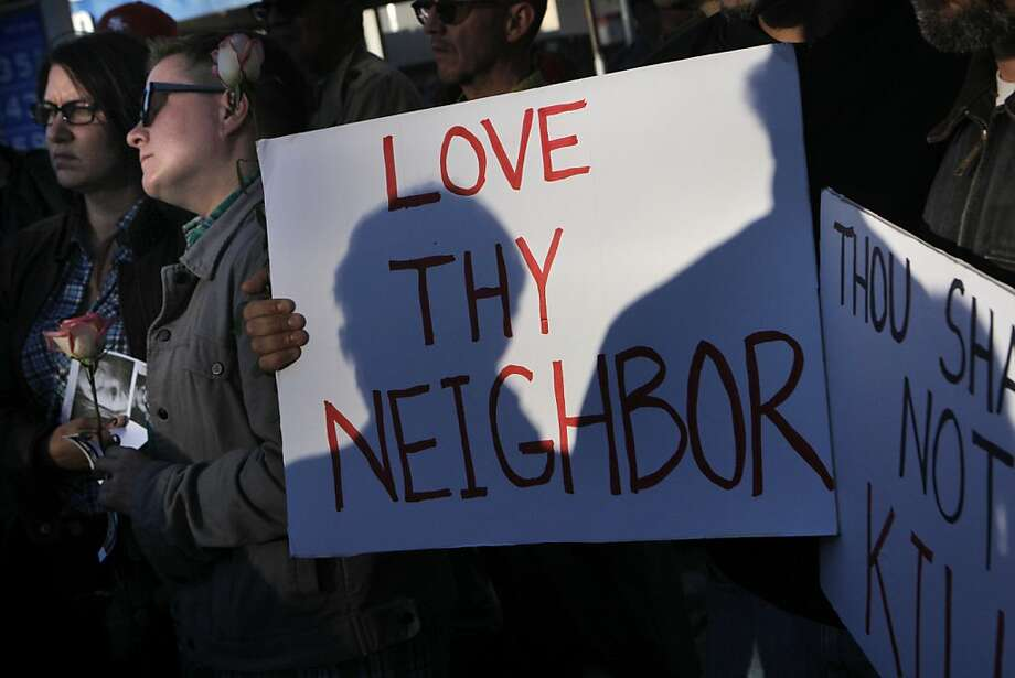 Members and supporters of the gay community held a vigil on Wednesday, June 27, 2012 in San Francisco, Calif., at  the corner of Castro and Market Streets for Mollie Olgin and Mary Kristene Chapa, two lesbian teens who were shot on Friday near Corpus Christi, Texas. Photo: Megan Farmer, The Chronicle
