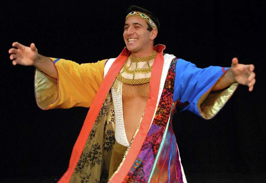 "Chris DeRosa is starring in the Andrew Lloyd Webber musical, ""Joseph and the Amazing Technicolor Dreamcoat"" opening Saturday, July 14, at the Summer Theatre of New Canaan. Photo: Contributed Photo"