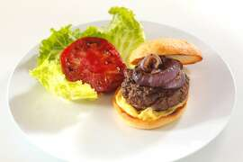 The Bistro Don Giavanni Burger as seen in San Francisco, California, Wednesday, June 27, 2012. Food styled by Sarah Fritsche.