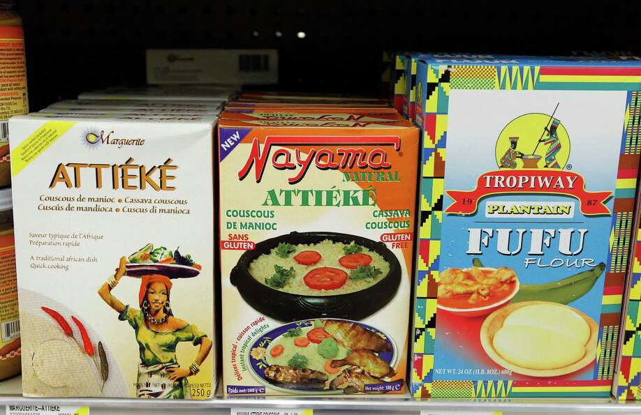 Assorted items from the Ivory Coast of Africa at the new Fiesta grocery store at Westheimer and Dair