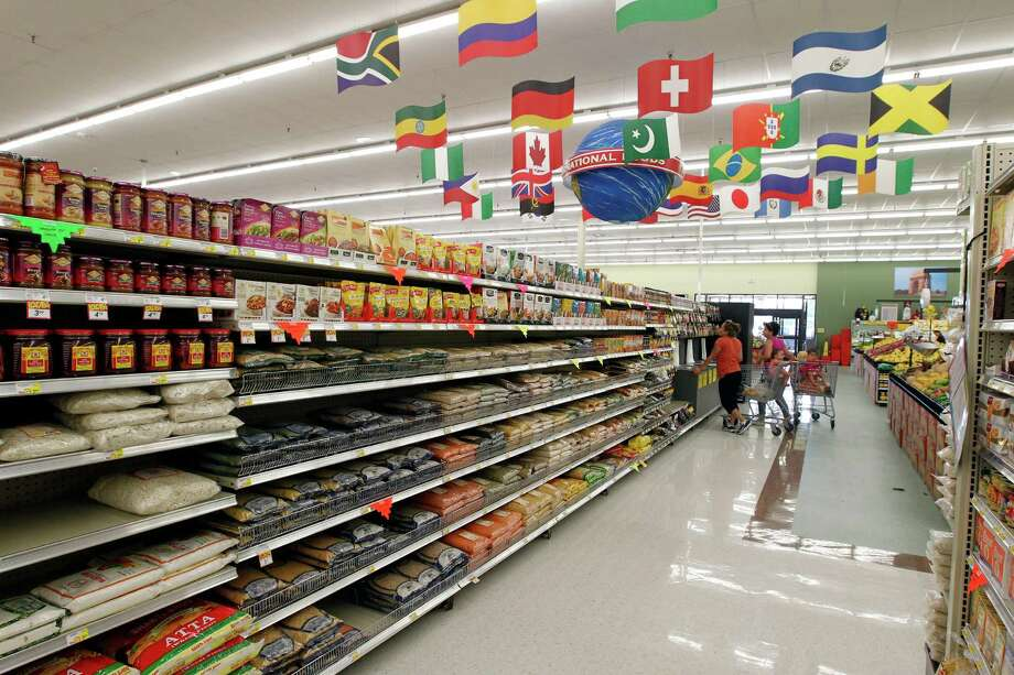 One of several international food aisles at the new Fiesta grocery store at Westheimer and Dairy Ashford Monday, June 25, 2012, in Houston. Photo: James Nielsen, Chronicle / © Houston Chronicle 2012