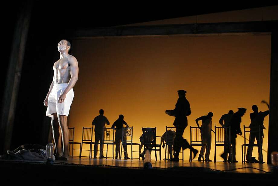 """Clifton Duncan performs in the final dress rehearsal of the """"Scottsboro Boys"""" which took place at the American Conservatory Theatre. Photo: Megan Farmer, The Chronicle"""