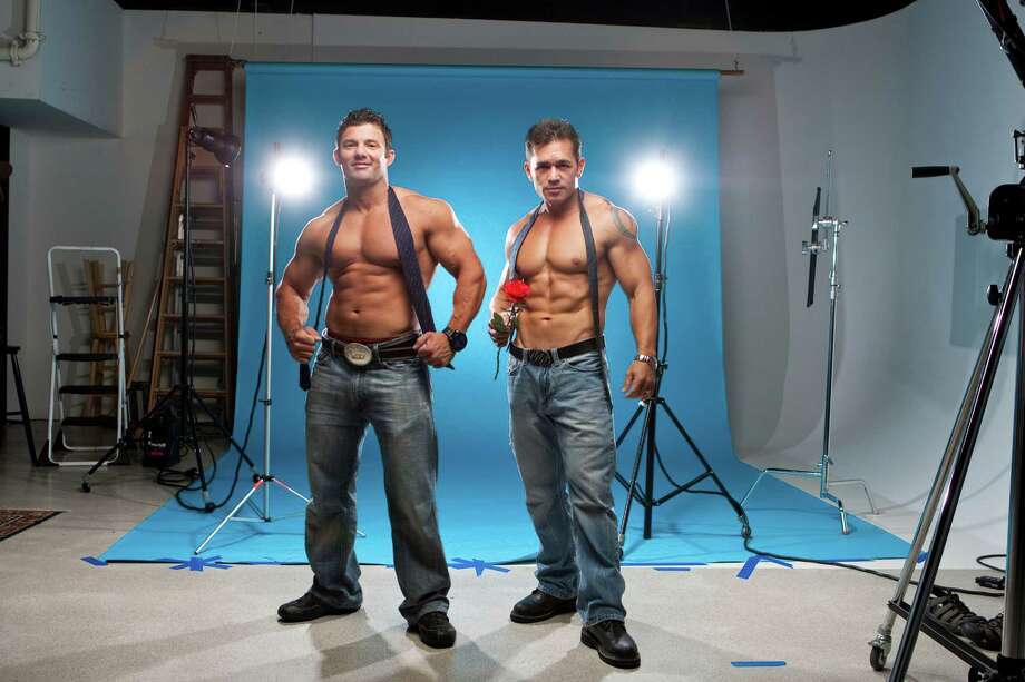 Taylor Cole, left, and Justin Whitfield, male strippers for Alyson Ward story. Photographed, Tuesday, June 26, 2012, in the Chronicle studio in Houston. ( Nick de la Torre / Houston Chronicle ) Photo: Nick De La Torre / © 2012  Houston Chronicle