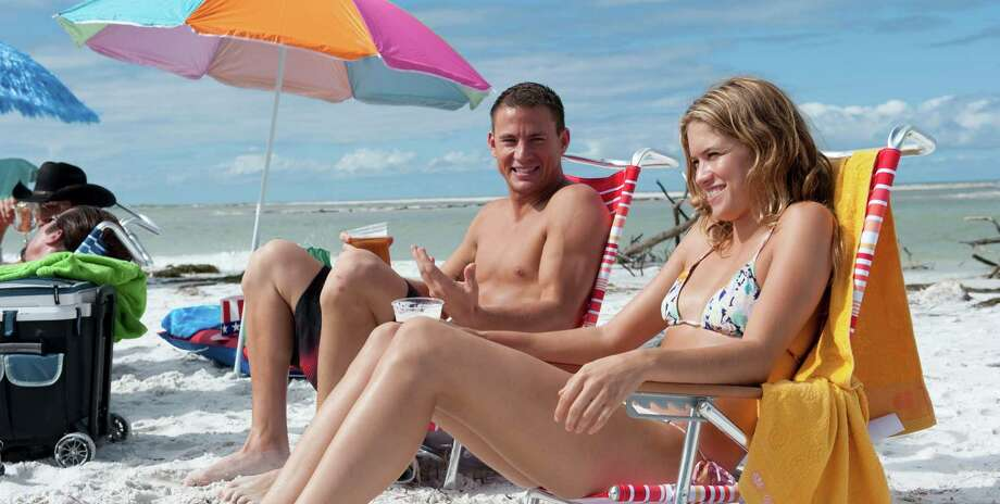 Mike (Channing Tatum) turns on the charm during a trip to the beach with Brooke (Cody Horn). Photo: Claudette Barius
