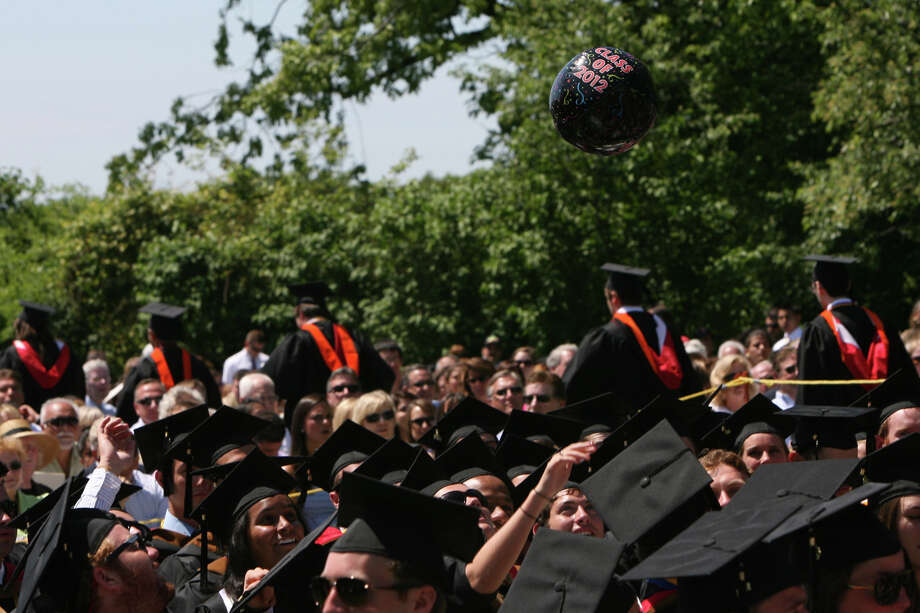 At the Fairfield University commencement on May 20, graduates had a ball. Photo: B.K. Angeletti, File Photo / Connecticut Post
