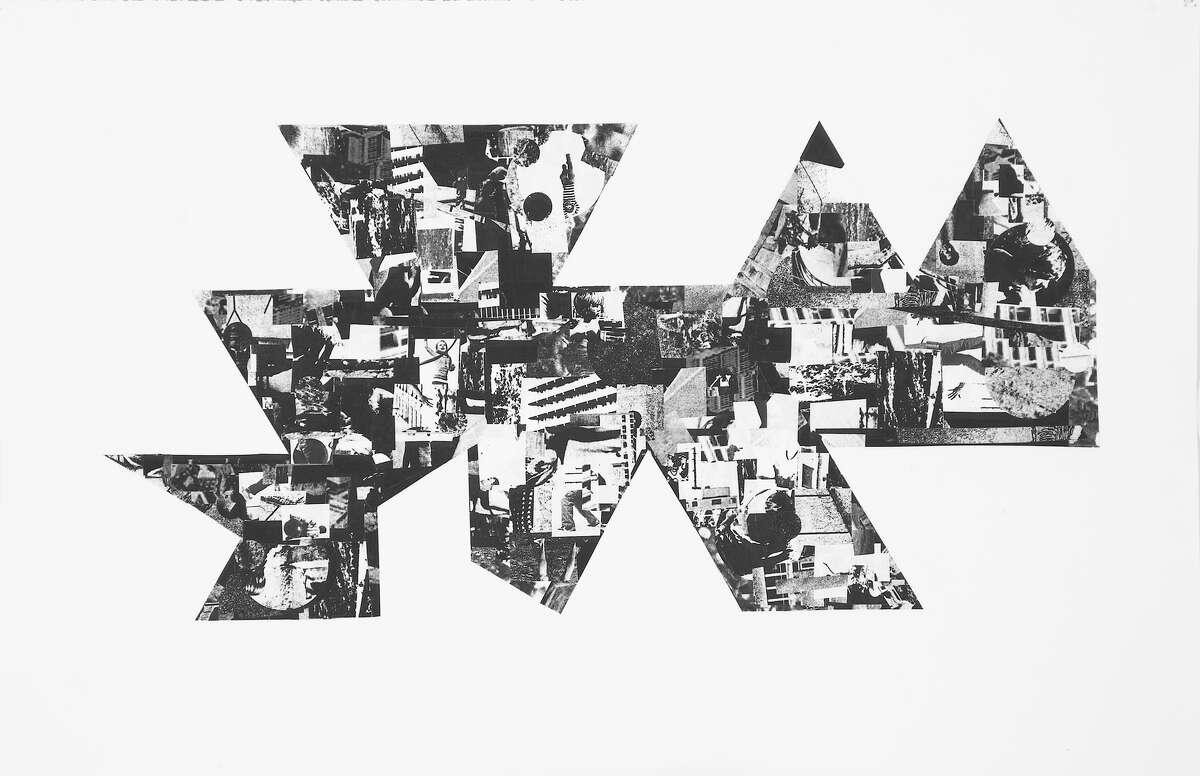 Untitled (Map II) cut paper on paper 30x40