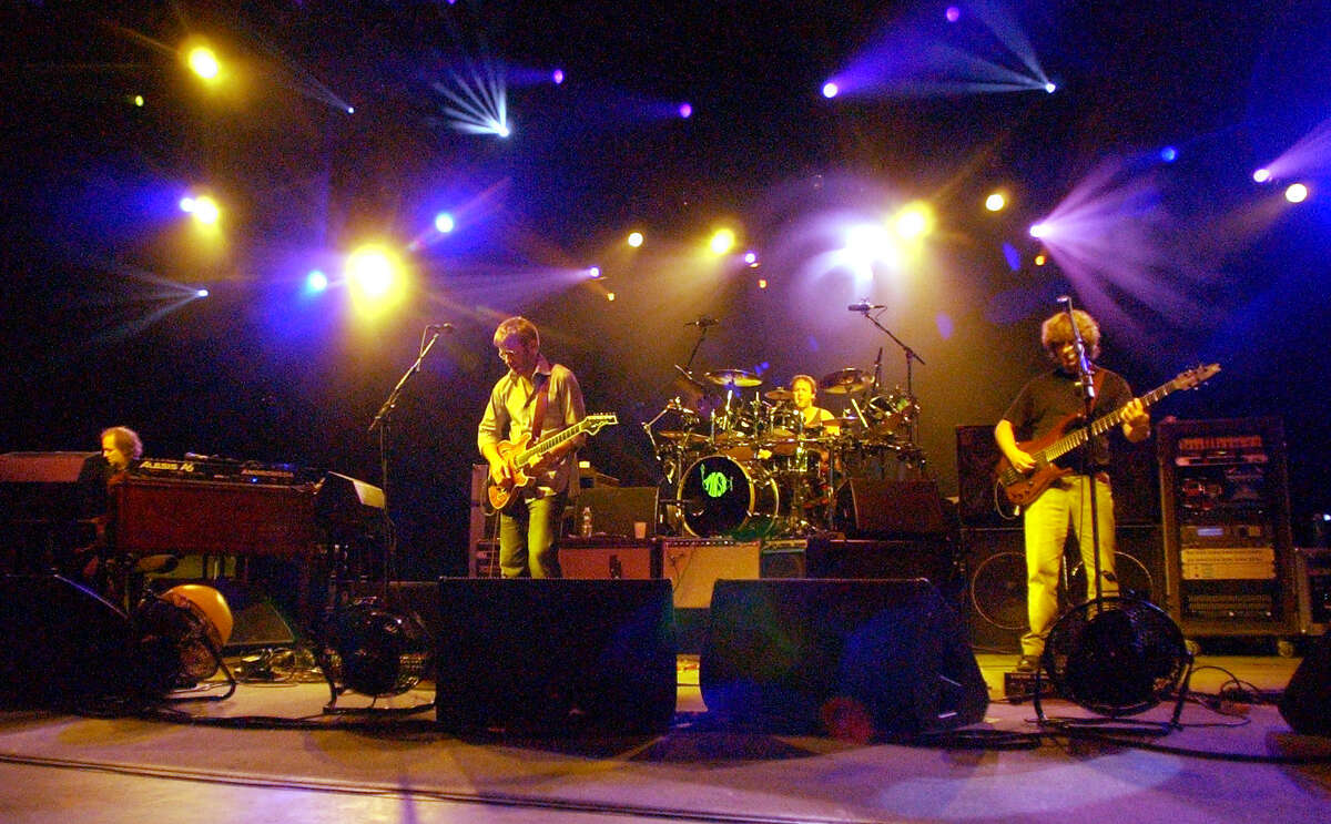 Phish performs at SPAC on June 19, 2004. (Times Union Archive)