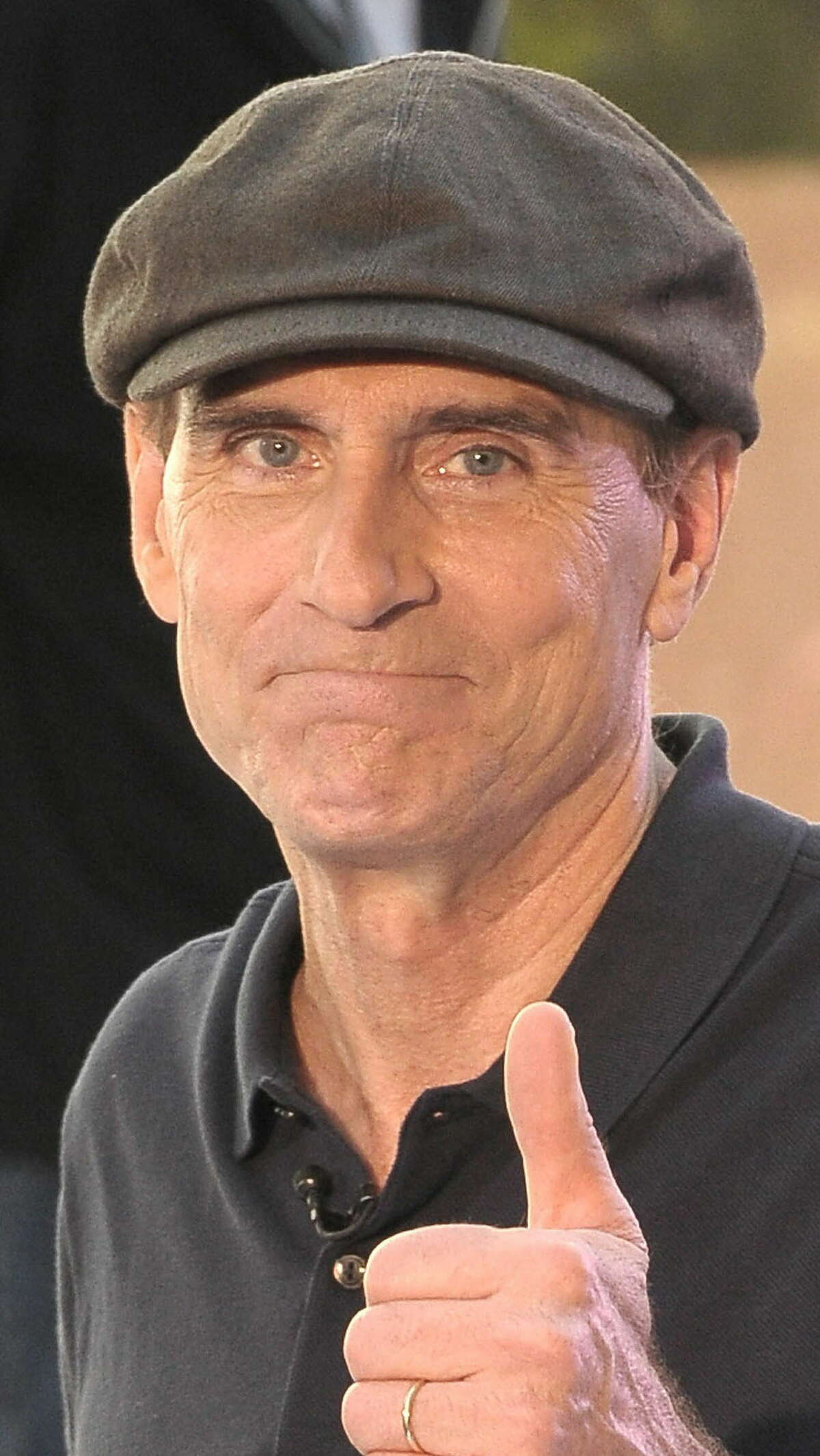 NEW YORK - JUNE 18: Musician James Taylor poses following a performance on NBC's