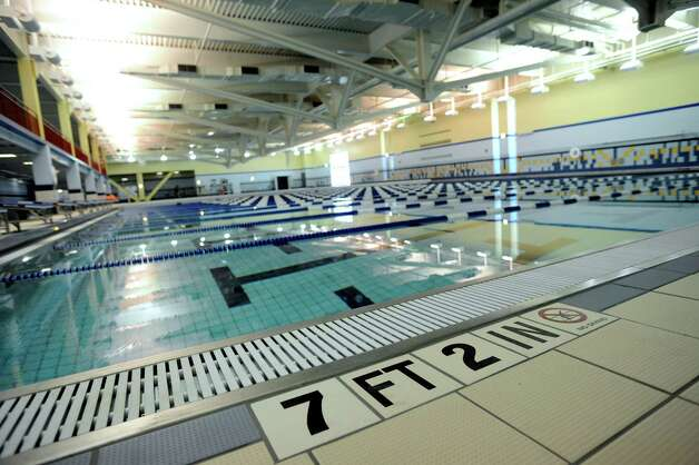 The o lympic-size, 50-meter pool at Chelsea Piers Connecticut. The facility held their ceremonial ribbon cutting at the Blachley Road campus in Stamford, Conn. on Thursday June 28, 2012. Photo: Cathy Zuraw / Stamford Advocate