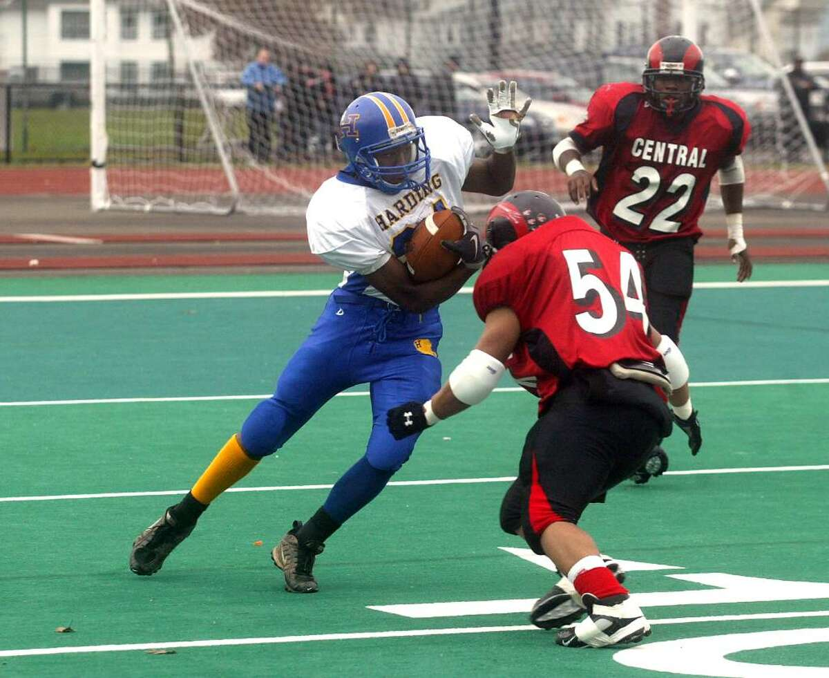The Central High School footbal team beat Warren G. Harding 49-0 Thanksgiving Day at Kennedy Stadium in Bridgeport. Thursday, Nov. 26. 2009.