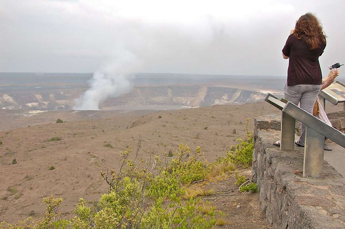 Visitors flock to Hawaii Volcanoes National Park on the island of Hawaii.