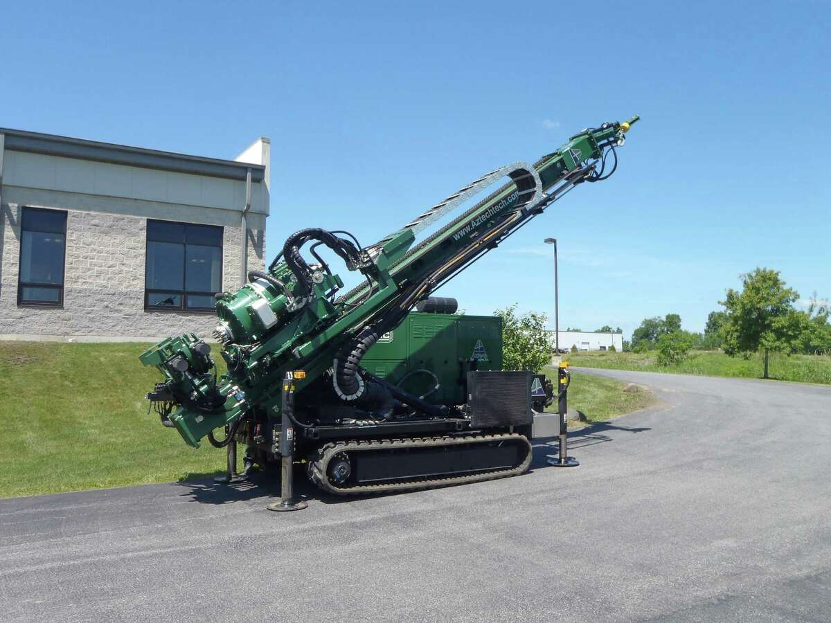 New sonic drillng rig purchaed by Aztech Technologies of Ballston Spa