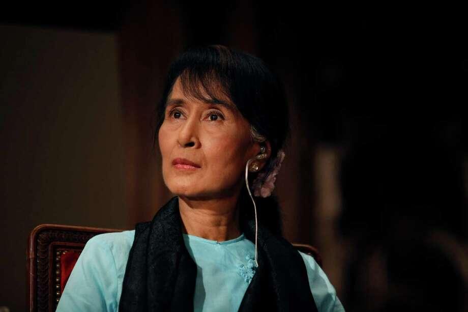 Myanmar opposition leader Aung San Suu Kyi.