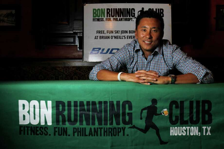 Dave Lee organized BON Running Club at Brian O'Neill's Irish Pub in Rice Village in 2008. Today, the club boasts about 8,000 members. Photo: Karen Warren / © 2012  Houston Chronicle