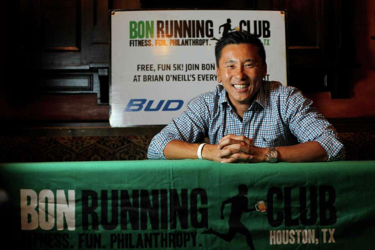 Dave Lee, an entrepreneur and organizer of BON Running Club at Brian O'Neill's bar in Rice Village on Wednesday, June 20, 2012, in Houston. Karen Warren / Houston Chronicle )