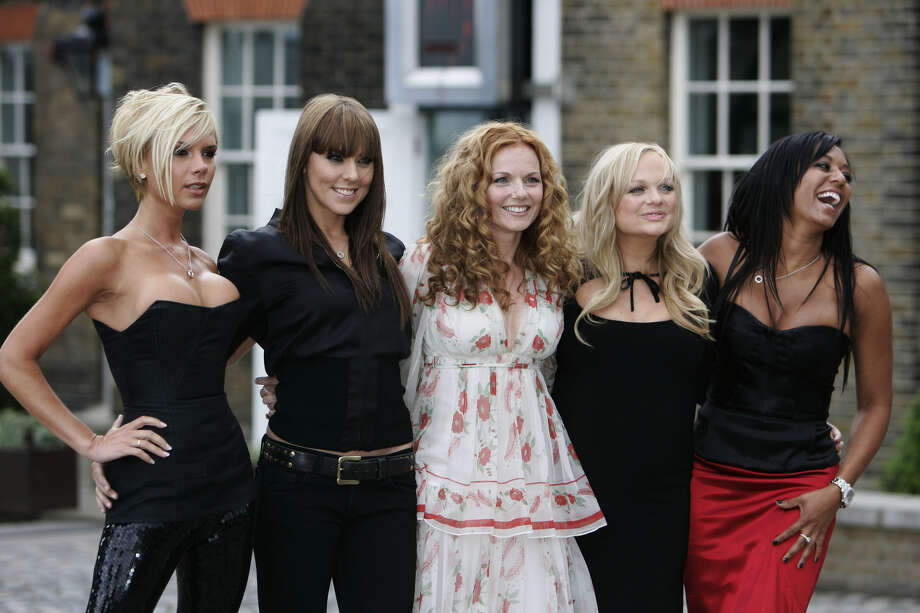 The reformed Spice Girls, from left, Victoria Beckham, Melanie Chisholm, Geri Halliwell, Emma Bunton and Melanie Brown pose for photographers on the grounds of the Royal Observatory in Greenwich, London, on June 28, 2007, prior to releasing a new CD and setting off on a world tour. Photo: LEFTERIS PITARAKIS, AP / AP
