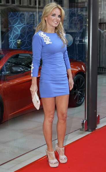 Geri Halliwell attends the McLaren London showroom opening in London on June 21, 2011.