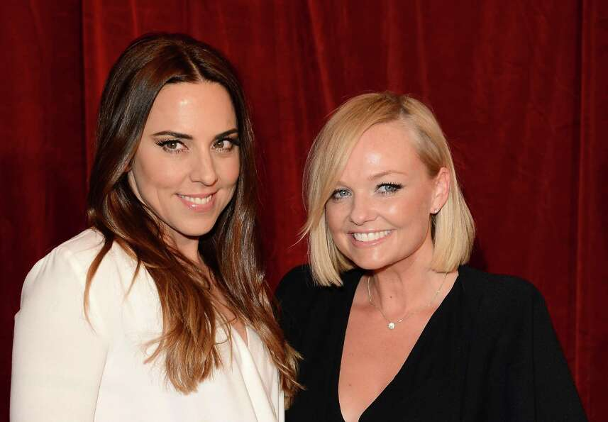 Melanie Chisholm and Emma Bunton attend the 2012 British Soap Awards at ITV Studios in London on Apr
