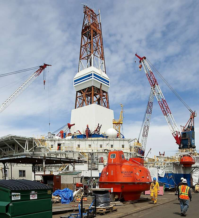 The Kulluk rig is being readied in Seattle, where it has undergone $100 million worth of renovations. It will be used for the Arctic drilling operations for which Shell has received federal approval. Photo: Mike Siegel, McClatchy-Tribune News Service