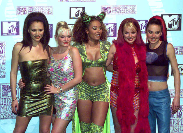 The Spice Girls pose at the presentation of the MTV Music Awards in Rotterdam, Netherlands, Nov. 6, 1997. The Spice Girls won the Best Group category. The British all-girl band dedicated the award to fans, friends, families and each other. They beat out an all-guy challenge from Oasis, Prodigy, Radiohead and U2. Photo: AP Photo/Dusan Vranic