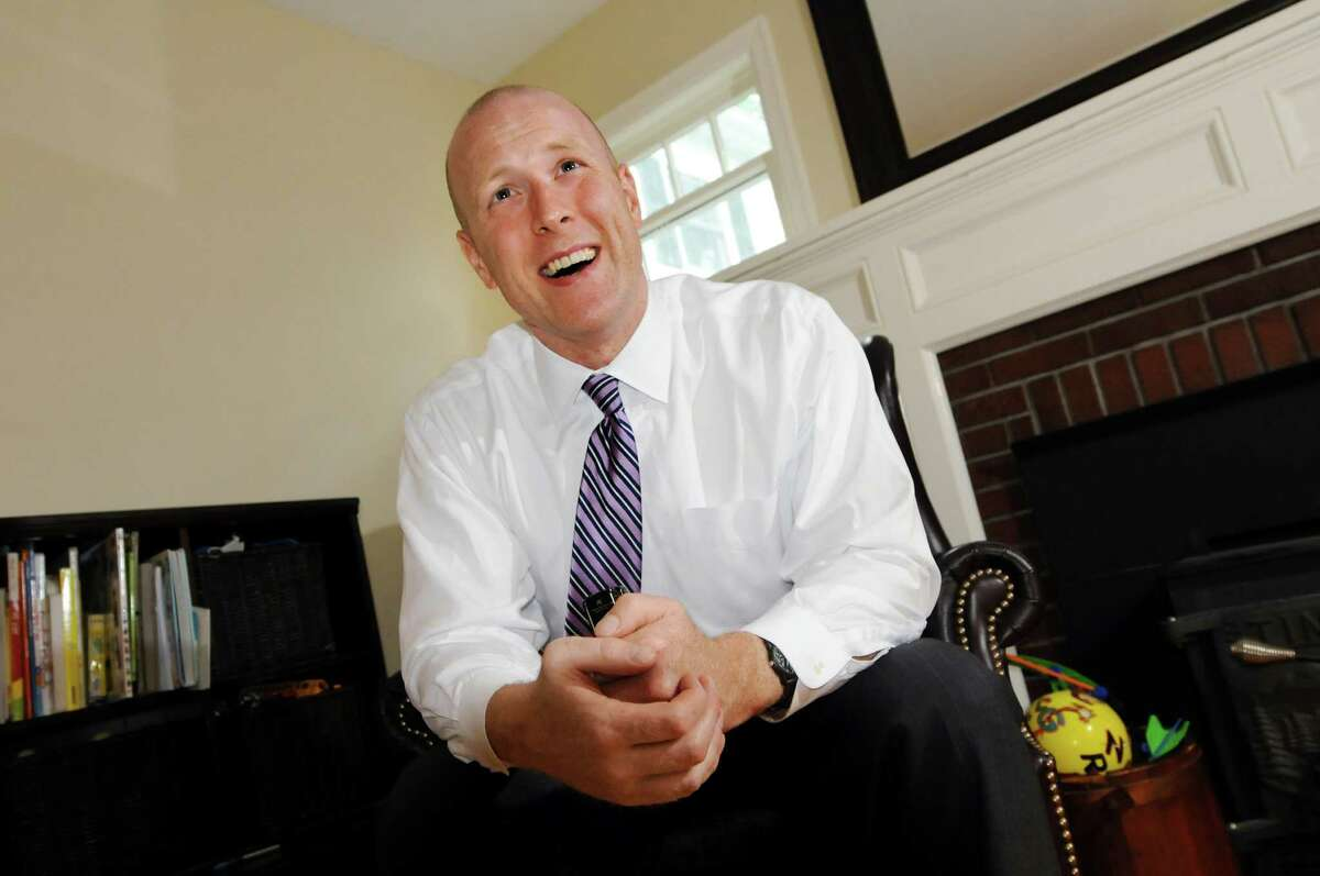 Lee Kindlon, who's running for Albany County District Attorney, on Tuesday, May 15, 2012, at his home in Delmar, N.Y. (Cindy Schultz / Times Union)