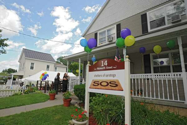 Shelters of Saratoga at 14 Walworth St. with 20 Walworth St. on the left Thursday, June 28, 2012 in Saratoga Springs, N.Y. Shelters of Saratoga (SOS) has undertaken the expansion of this adjacent facility which will add 13 shelter beds and had previously been used for a transitional housing pilot program. (Lori Van Buren / Times Union)