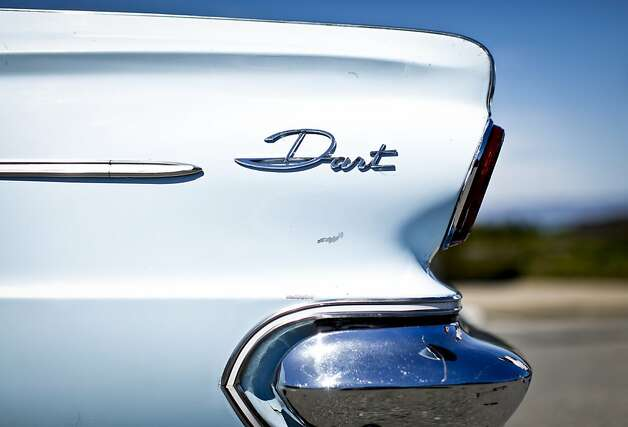 Lily Fighera's 1963 Dodge Dart is seen on Tuesday, June 26, 2012 in San Francisco, Calif.  Her husband, Mark, gave her the car as an engagement gift. Photo: Russell Yip, The Chronicle