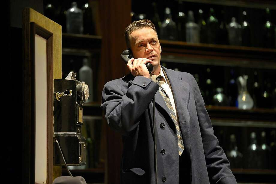 "Bill Wilson (Ray Chambers) desperately calls strangers in an attempt to keep from heading to a bar in San Jose Rep's production of ""Bill W. and Dr. Bob,"" about the founding of Alcoholics Anonymous Photo: Kevin Berne"