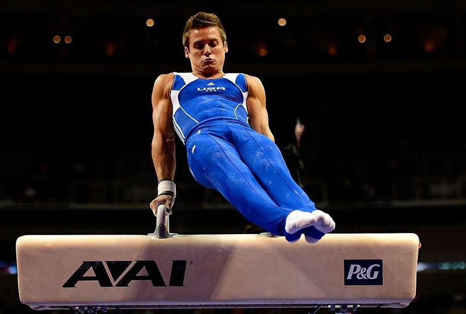 SAN JOSE, CA - JUNE 28:  Sam Mikulak competes on the pommel horse during day 1 of the 2012 U.S. Olympic Gymnastics Team Trials at HP Pavilion on June 28, 2012 in San Jose, California.  (Photo by Ronald Martinez/Getty Images) Photo: Ronald Martinez, Getty Images