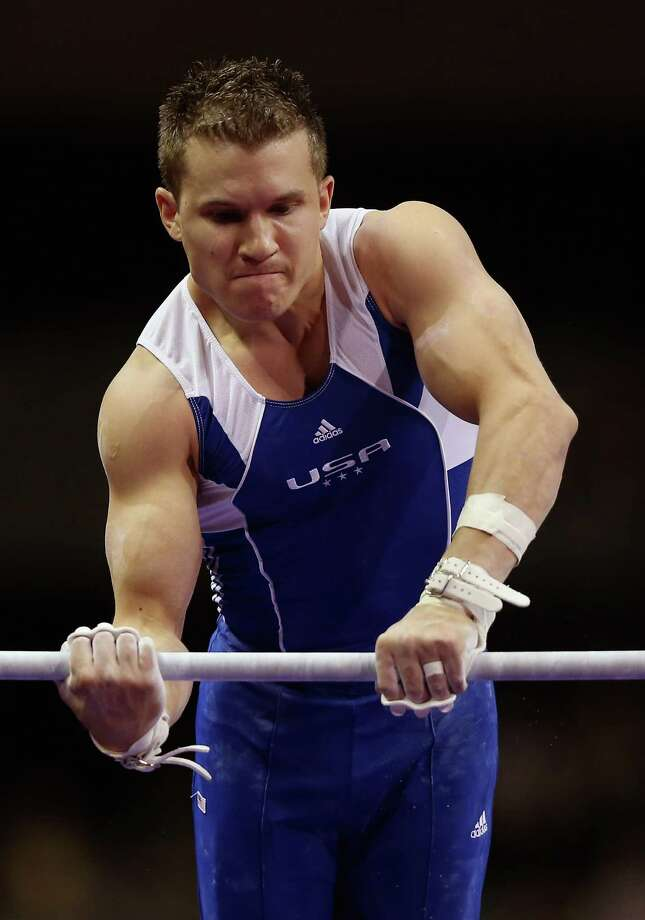 Jonathan Horton competes on the high bar during day 1 of the 2012 U.S. Olympic Gymnastics Team Trials at HP Pavilion on June 28, 2012 in San Jose, California. Photo: Ezra Shaw, Getty Images / 2012 Getty Images