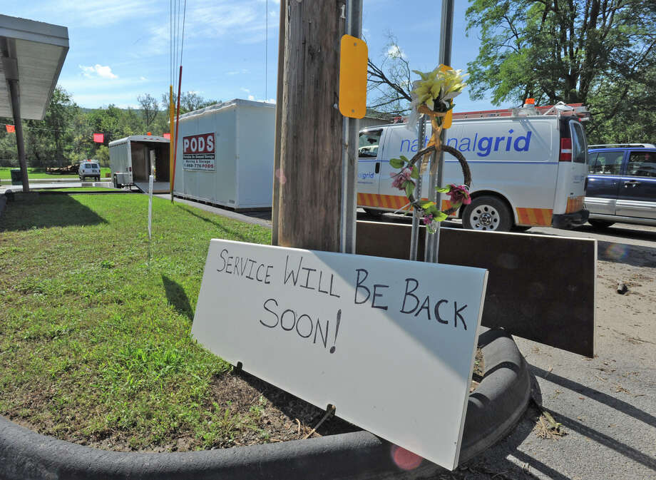 National Grid works on power problems almost two weeks after tropical storm Irene hit in Rotterdam Junction, N.Y. on Sept. 8, 2011. (Lori Van Buren / Times Union) Photo: Lori Van Buren