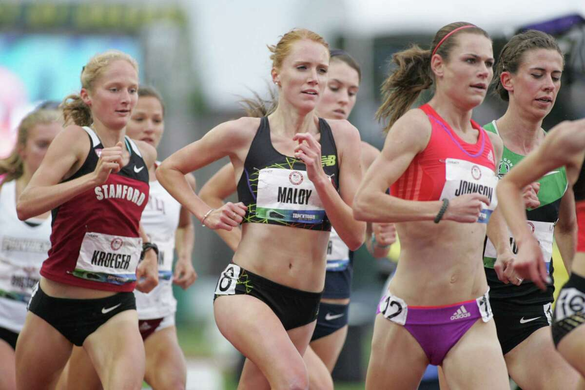 Loudonville?s Liz Maloy?s hopes of a trip to the Summer Olympics in London came to an end Thursday night when she finished seventh in the 5,000 meter finals at the Olympic Team Trials at Hayward Field in Eugene, Oregon. ( John Nepolitan / Special to the Times Union )
