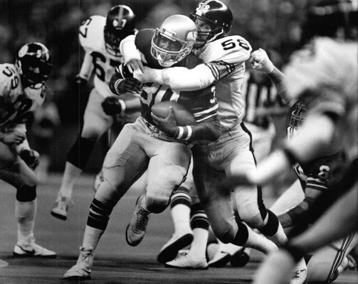 Nov. 4, 1979 --The Seahawks lost to the Los Angeles Rams 24-0 at the Kingdome, finishing the game with a horrendous negative 7 yards of total offense. Seattle made just one first down in the game.