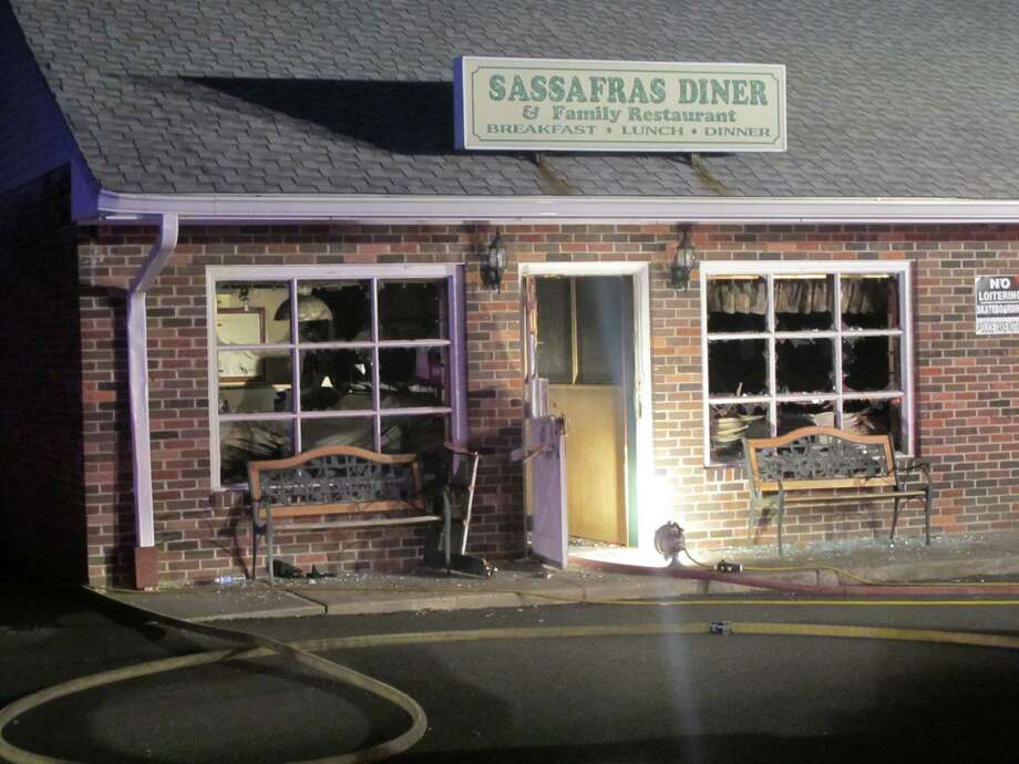 The Sassafras Diner, located in Huntington Plaza in Shelton, Conn., was gutted by a fire on Thursday, June 28, 2011. Photo: Tom Cleary