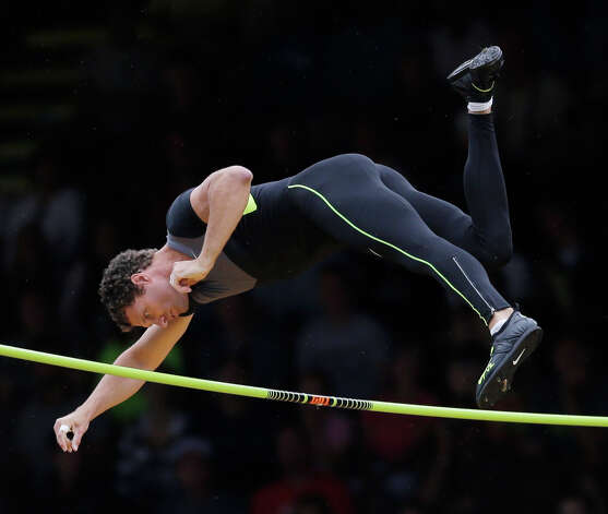 Brad Walker clears the bar in the pole vault final at the U.S. Olympic Track and Field Trials Thursday, June 28, 2012, in Eugene, Ore. (AP Photo/Matt Slocum) Photo: Associated Press